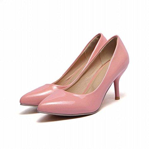 Carol Schoenen Chic Dames Sexy Puntschoen Mode Feestjurk Met Hoge Naaldhak Pumps Schoenen Roze