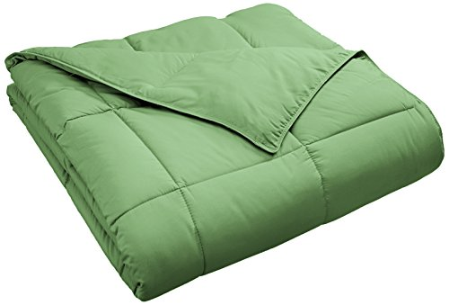 Superior Classic All-Season Down Alternative Comforter with with Baffle Box Construction, Twin, Terrace Green