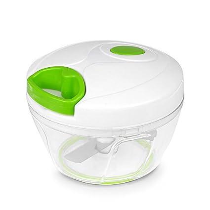 allomn multifuncional picadora manual de alimentos compacto y potente Hand Held Vegetal Chopper cocina herramientas accesorios
