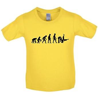 Evolution Of Man Judo Kinder Kids Martial Arts T Shirt