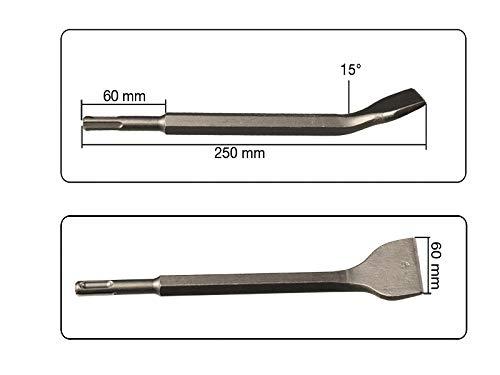 Breitmei/ßel abgewinkelt SDS Plus Aufnahme 40 mm x 250 mm