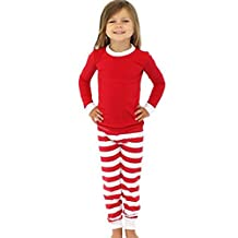 CeRui Family Christmas Kid Mom Dad Striped Matching Family Pajama Set Sleepwear