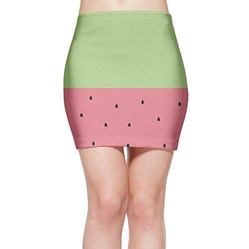 Tightslady Women Buttocks Tights Mini Skirt Dress Eat A Watermelon