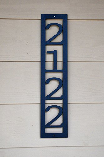 Custom Address Marker - Vertical House Number - Metal Address - House Vertical