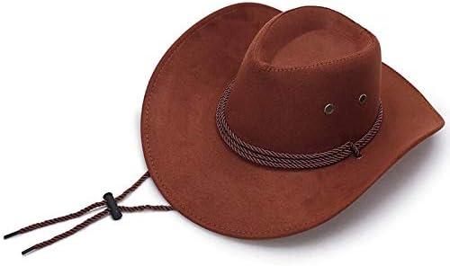 thematys Sombrero de Vaquero en marrón Cowboy - Traje de Sombrero de Vaquero para Adultos Carnaval, Halloween y Cosplay