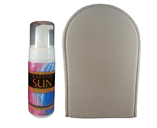 rofessional Instant Bronzing Self Tanning Mousse and Breeze Tanning Mitt Sunless Tanning Kit ()