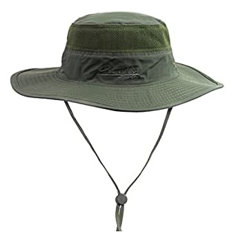 Home prefer unisex daily outdoor sun hat camouflage mesh for Wide brim fishing hat