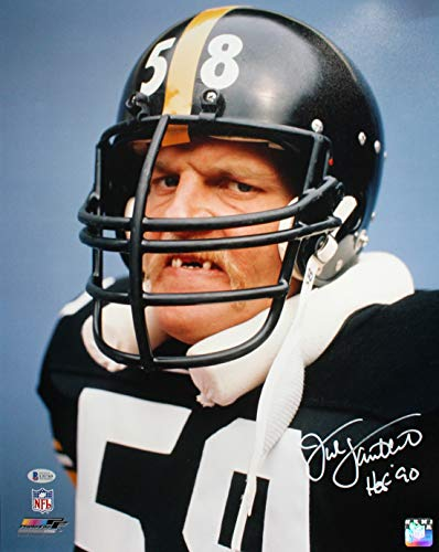 Jack Lambert Autographed/Signed Pittsburgh Steelers 16x20 Photo BAS PF