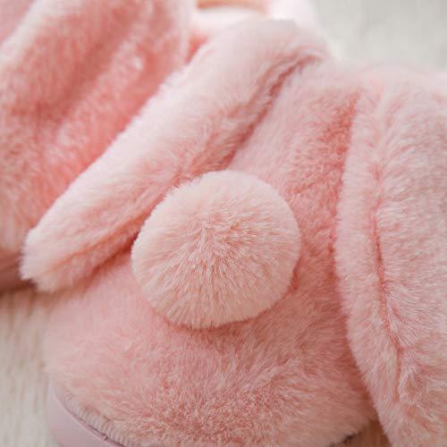 Memory Fuzzy Pink Anti Women's Skid Slippers Animal Mobnau Foam House 76TSSPq