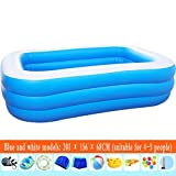 Inflatable Swimming Pool Children Inflatable Swimming Pool Family Parent-Child Large Paddling Pool Thickening Children's Ball Pool Large Pool End of the desert (Color : B)