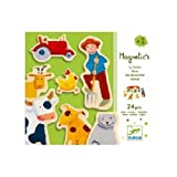 Djeco / Wooden Magnet Play Set, Farm