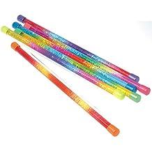 Assorted Sparkling Glitter Rainbow Batons