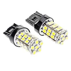 GDW 7443 2.5W 36x3528SMD 240-260LM LED White & Yellow Light para el coche (2 PCS)