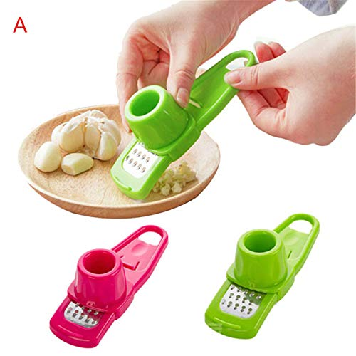 KESEE ☀☀Multi Functional Microplaner and Grater for Ginger or Garlic Kitchen Tool Color: Rose/green -
