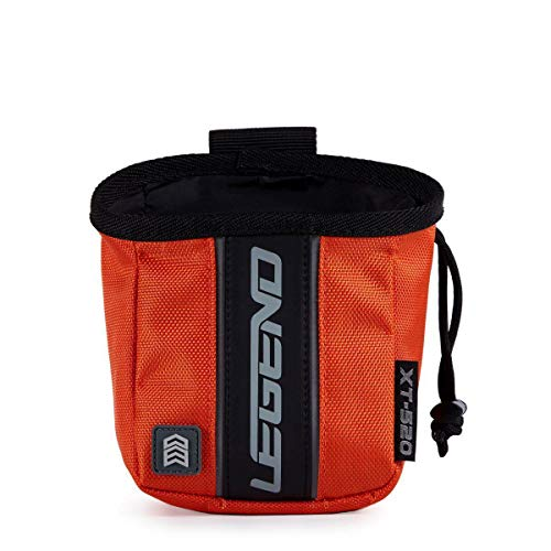 Legend Archery Release Aids Pouch Bag with Belt Loop Draw String and Zipped Pocket XT520 (Orange)