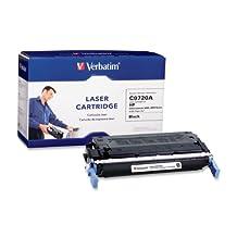 Verbatim HP C9720A Remanufactured Laser Toner Cartridge, Black 94956