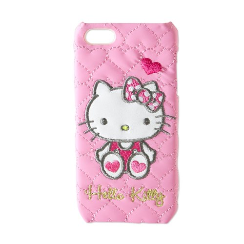 [Hello Kitty]Die-cut 5 cases iPhone quilted heart (japan import)
