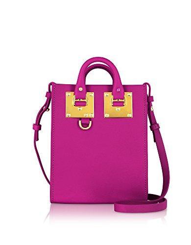 Sophie Hulme Borsa Shopping Donna BG188LEALBIONFUCHSIA Pelle Fucsia