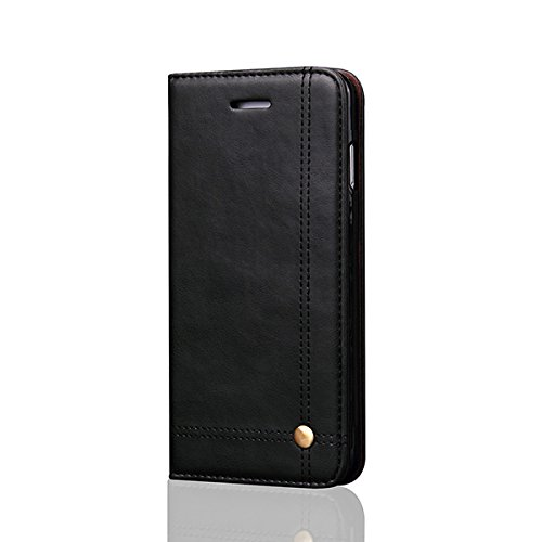 iPhone 8PLUS Case Aroko Leather Case Classic iphone 7 PLUS Flip Leather Wallet Cases Slim Folio Book Cover with Credit Card Slots Cash Pocket Stand Holder Drop Magnet Closure for iPhone 7PLUS/8PLUS 5.