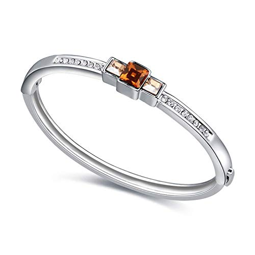 Girl-Shop Thousands of Swarovski Crystal Bracelets in The Morning Light Europe and The United States Simple pl,SmokeYellow+GoldenShadow18912 -