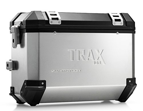 SW-MOTECH TRAX ION 37-Liter Side Case - Right | Aluminum Silver ()