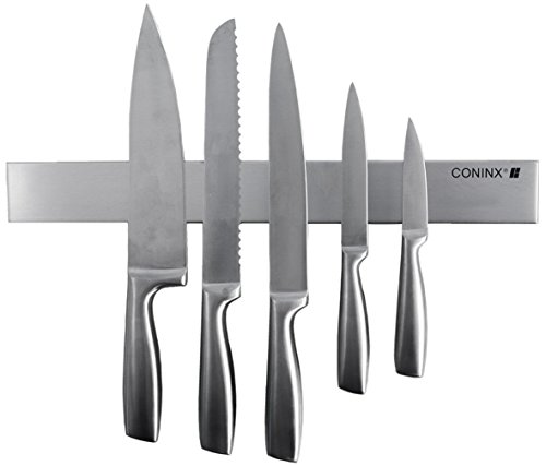 Coninx TitanForce Magnetic Knife Holder -16 Inch Stainless Steel Magnetic Knife Strip with Multi-Purpose Functionality - Super Magnet Storage Bar- Magnetic Tool Organizer, Home Organizer Light Rust Pine Metal