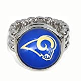 Devastating Designs Men's Women's Silver Los Angeles Rams Fan Ring Football Gift