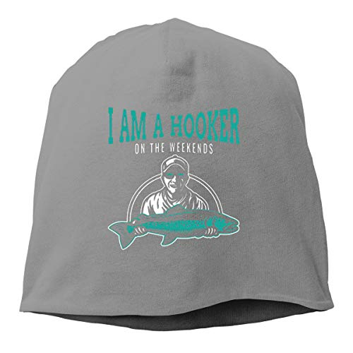 06a06cf450dbe YU YuYu I Am A Hooker Cool Beanies Knitted Hat Deep Heather