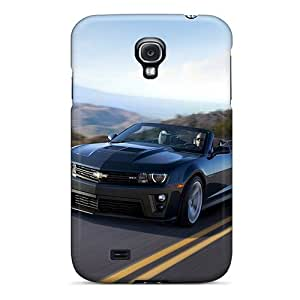 Shock Absorbent Cell-phone Hard Cover For Samsung Galaxy S4 With Custom Realistic Chevrolet Camaro Zl1 Series CristinaKlengenberg