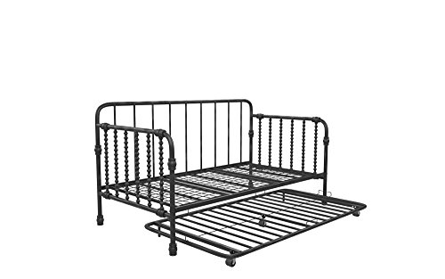(Little Seeds Monarch Hill Wren Metal Daybed with Trundle, Twin Size, Black)