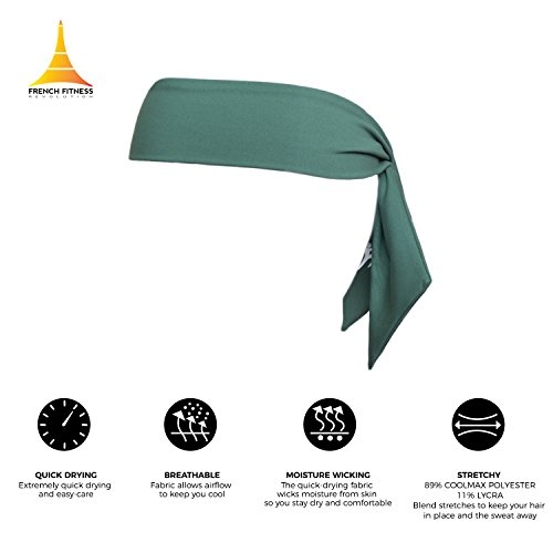 Head Tie / Tie Headband / Sports Headband - Keep Sweat & Hair Out of Your Face - Ideal for Running, Working Out, Tennis, Karate, Athletics & Boxing. Performance Stretch & Moisture Wicking