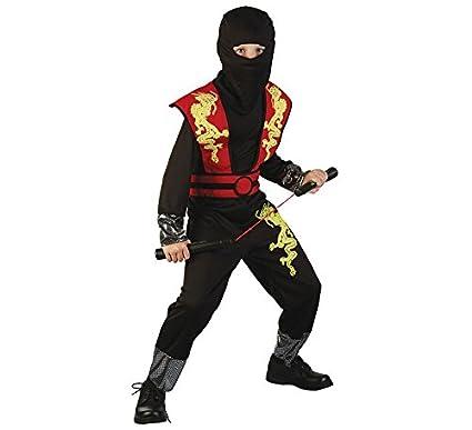 Disfraz de Ninja del dragón dorado para niño: Amazon.es ...
