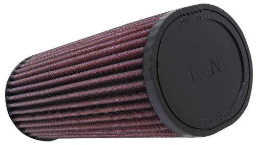 K&N RU-1260 Universal Clamp-On Air Filter: Oval Straight; 2.438 in (62 mm) Flange ID; 9 in (229 mm) Height; 4.5 in x 3.75 in (114 mm x 95 mm) Base; 4.5 in x 3.75 in (114 mm x 95 mm) Top