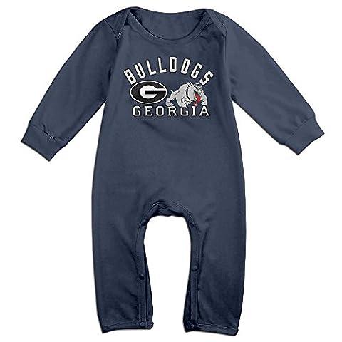 Georgia Bulldogs University Of Georgia Funny Long Sleeves Variety Baby Onesies Creeper For Babies Size 24 (Georgia Blues Dawgs)