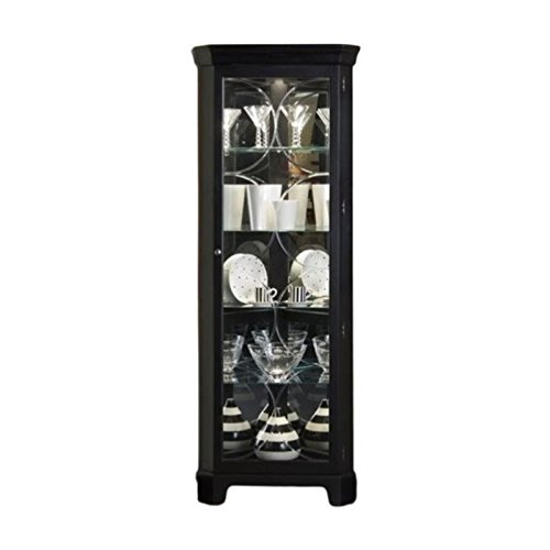 Corner Cabinet Black Curio (Bowery Hill Oxford Black Corner Curio Cabinet)