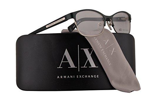 Armani Exchange AX1010 Eyeglasses 53-16-140 Satin Alpine Dark Green w/Demo Clear Lens 6051 AX - Glasses Exchange Armani Manufacturer