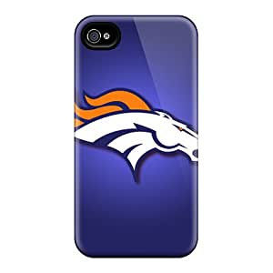 Best Hard Phone Cover For Apple Iphone 4/4s With Unique Design HD Denver Broncos Series MarcClements