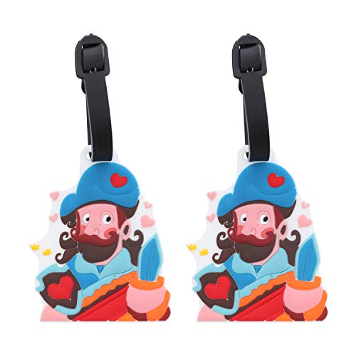 Pirate Luggage Tags Suitcase ID Holder - Set of 2