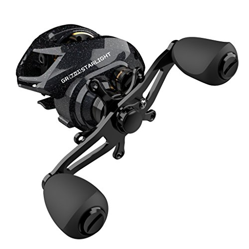 AOTSURI Starlight Baitcasting Reel 18LB Carbon Fiber Drag 7.0:1 11+1 Anti-Corrosion Bearings Dual Brakes System Ultra Smooth Crank with Left Hand For Sale