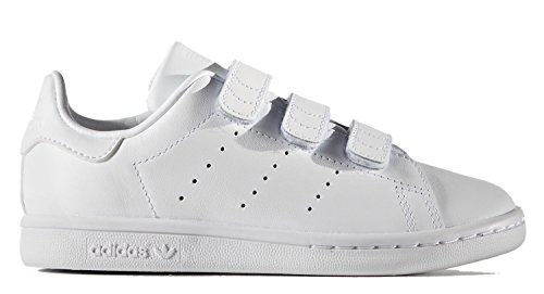 Price comparison product image adidas Originals Kids' Stan Smith CF C Sneaker, White/White/White, 1.5 M US Little Kid