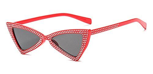 Clout Goggles Small Cat Eye Sunglasses Bold Retro Mod Diamond-set Triangle Eyewear Diamond Eyewear Sunglasses