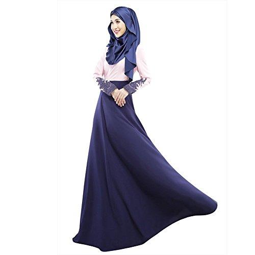Long Aro Muslim Women's Dress Lora Jilbab Maxi Sleeve Abaya Purple Islamic Kaftan rx0rwaTq