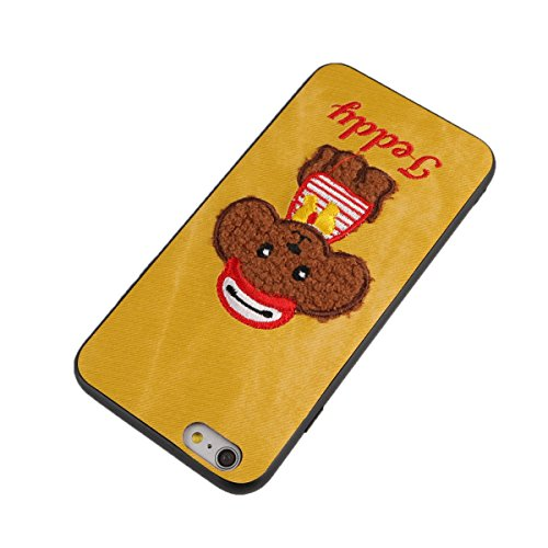 Cute Poodle Phone Case Anti-Scratch Fashion Hard Shock Proof Protective Rugged Case Cover Shell for iPhone 6 Plus/6S Plus ()