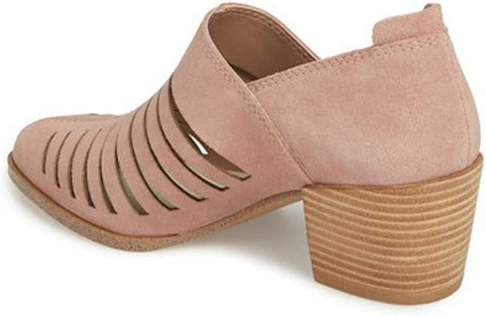 1.State Womens Arnet Fabric Pointed Toe Ankle Fashion Boots Blush