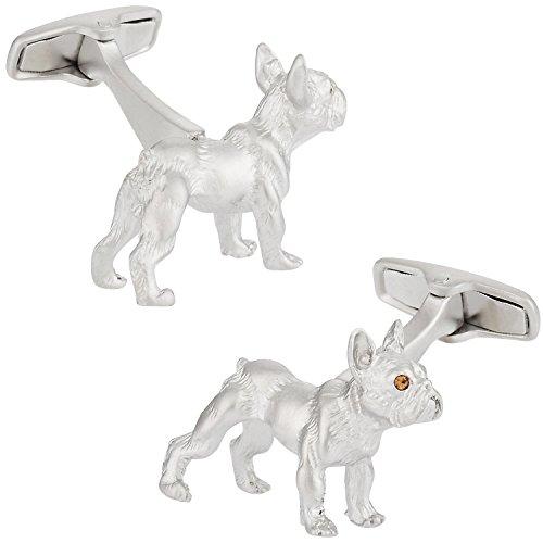 - Safari Cuff-Daddy French Bulldog Cufflinks with Presentation Box