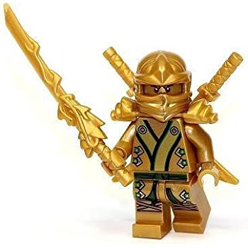 Amazon.com: LEGO Ninjago - The GOLD Ninja with 3 Weapons