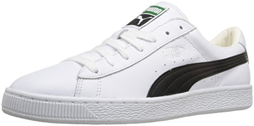 PUMA Men's Basket Classic Lfs Fashion Sneaker, White/Black, 8.5 M US