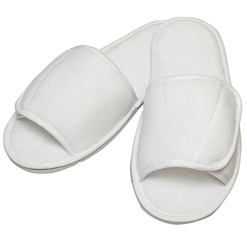 Towel City Adults Unisex Open Toe Slippers