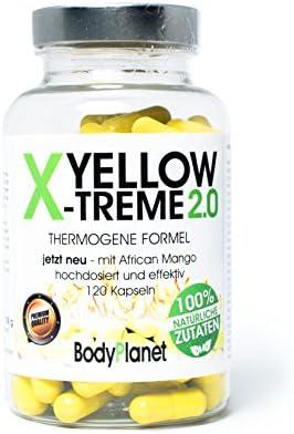 Bodyplanet Yellow X-Treme Fatburner -> Thermogene Formel/ 100% Natürliche Zutaten//Made in Germany/Pharmazeutische...