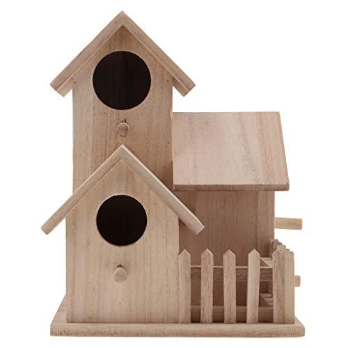 Flameer Exclusive Wooden Bird Table House Bird Feeder Feeding House Station - 1